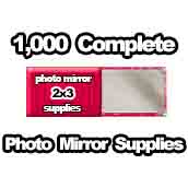 1,000 x PHOTO Pocket Mirror Supplies 2x3 inch
