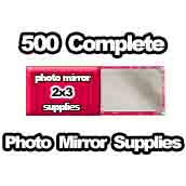 500 x PHOTO Pocket Mirror Supplies 2x3 inch