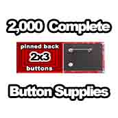 2,000 x Pinned Back Button Supplies 2x3
