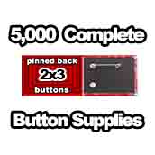 5,000 x Pinned Back Button Supplies 2x3