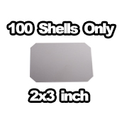 100 x Shells only 2x3 inch