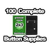 100 x Vertical Back Button Supplies 2x3