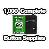 1,000 x Vertical Back Button Supplies 2x3
