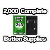 2,000 x Vertical Back Button Supplies 2x3