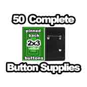 50 x Vertical Back Button Supplies 2x3