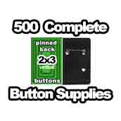 500 x Vertical Back Button Supplies 2x3