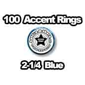 100 x Accent Rings Blue 2-1/4 in.