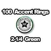 100 x Accent Rings Green 2-1/4 in.
