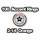 100 x Accent Rings Orange 2-1/4 in.