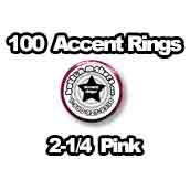 100 x Accent Rings Pink 2-1/4 in.