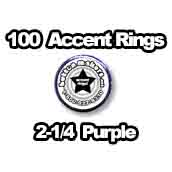 100 x Accent Rings Purple 2-1/4 in.