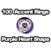 100 x Accent Rings Purple Heart 2-1/4 in.