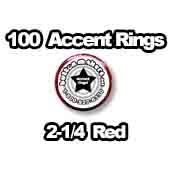 100 x Accent Rings Red 2-1/4 in.
