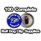 100 x Bulldog Clip Supplies 2-1/4 inch