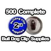 500 x Bulldog Clip Supplies 2-1/4 inch