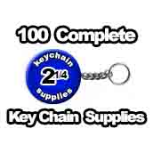 100 x Key Chains Split Ring Chain-Style 2-1/4 inch