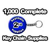 1,000 x Key Chains Split Ring Chain-Style 2-1/4 inch