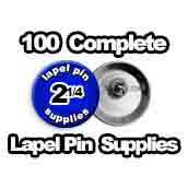 100 x Lapel Pin Supplies 2-1/4 inch