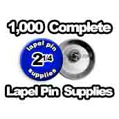 1,000 x Lapel Pin Supplies 2-1/4 inch