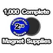 1,000 x Magnet Supplies 2-1/4 inch