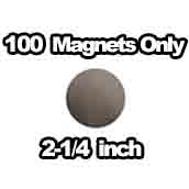 100 x Magnets Only 2-1/4 inch