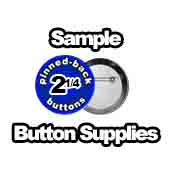 Samples Pinned Back Buttons 2-1/4 inch
