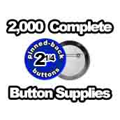 2,000 x Pinned Back Button Supplies 2-1/4 inch