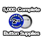 5,000 x Pinned Back Button Supplies 2-1/4 inch
