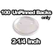 100 x Unpinned Backs Only 2-1/4 inch