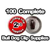 100 x Bulldog Clip Supplies 2-1/2 inch