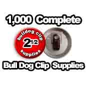 1,000 x Bulldog Clip Supplies 2-1/2 inch