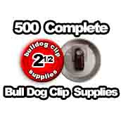 500 x Bulldog Clip Supplies 2-1/2 inch