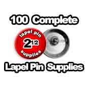 100 x Lapel Pin Supplies 2-1/2 inch