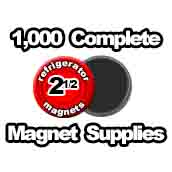 1,000 x Magnet Supplies 2-1/2 inch