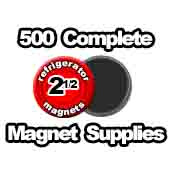 500 x Magnet Supplies 2-1/2 inch