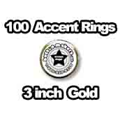 100 x Accent Rings Gold 3 in.