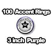 100 x Accent Rings Purple 3 in.