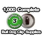1,000 x Bulldog Clip Supplies 3 inch