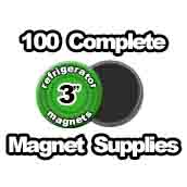 100 x Magnet Supplies 3 inch