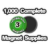 1,000 x Magnet Supplies 3 inch