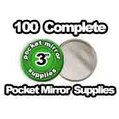 100 x Pocket Mirror Supplies 3 inch