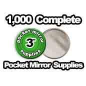 1,000 x Pocket Mirror Supplies 3 inch