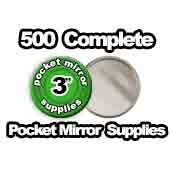 500 x Pocket Mirror Supplies 3 inch