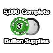 5,000 x Pinned Back Button Supplies 3 inch