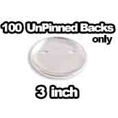 100 x Unpinned Backs Only 3 inch
