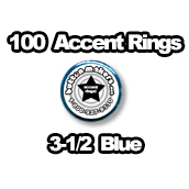100 x Accent Rings Blue 3-1/2 in.