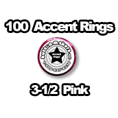 100 x Accent Rings Pink 3-1/2 in.