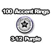 100 x Accent Rings Purple 3-1/2 in.