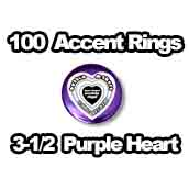 100 x Accent Rings Purple Heart 3-1/2 in.