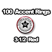 100 x Accent Rings Red 3-1/2 in.